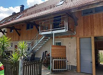 Vom Stall zum Wohnhaus, außen | Seitz Manufaktur in Weigendorf