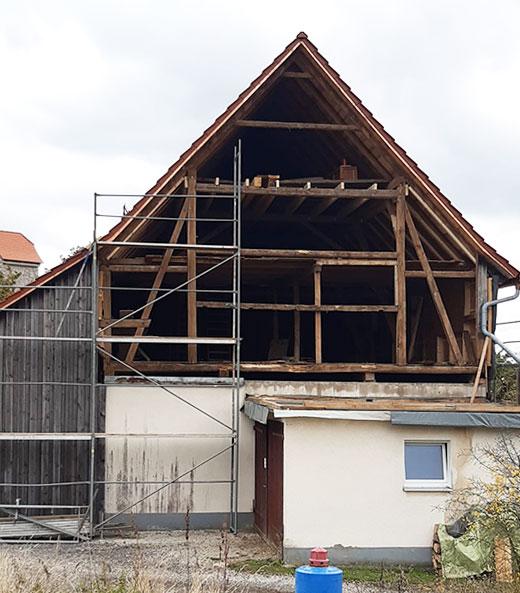 Vom Stall zum Wohnhaus, vorher | Seitz Manufaktur in Weigendorf